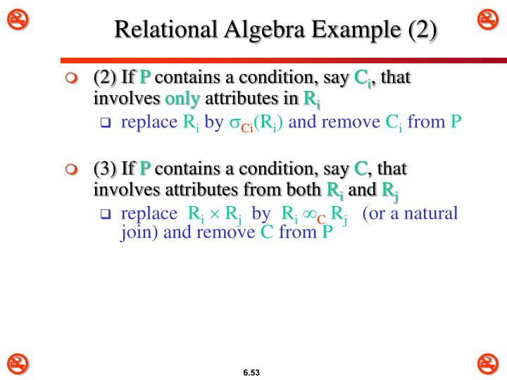 Relational Algebra Example (2)