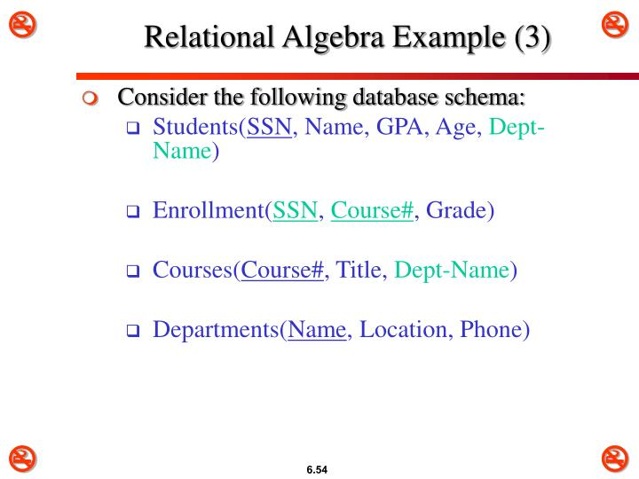 Relational Algebra Example (3)