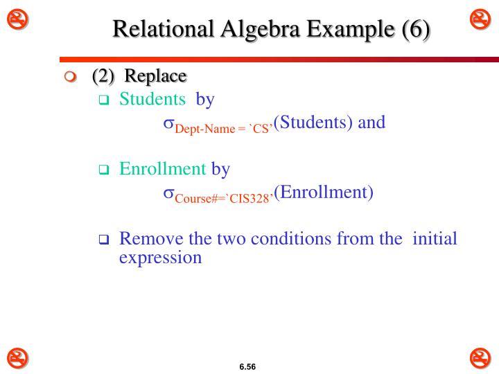 Relational Algebra Example (6)