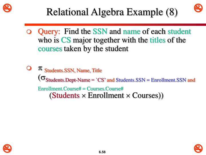 Relational Algebra Example (8)
