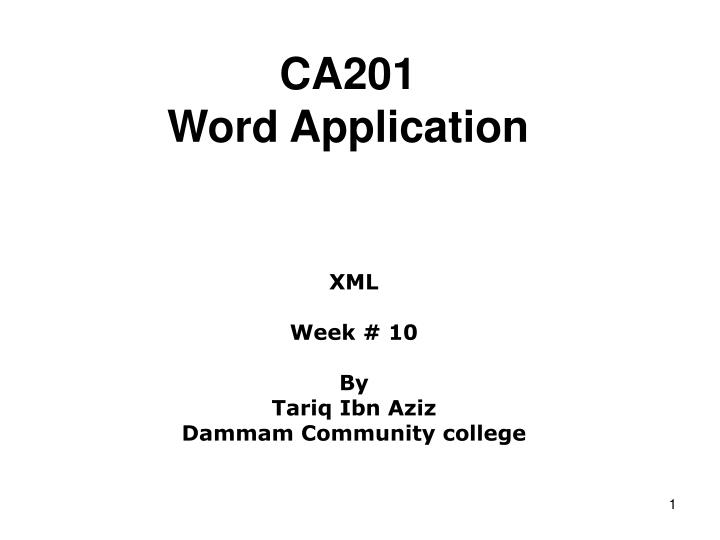 Ca201 word application