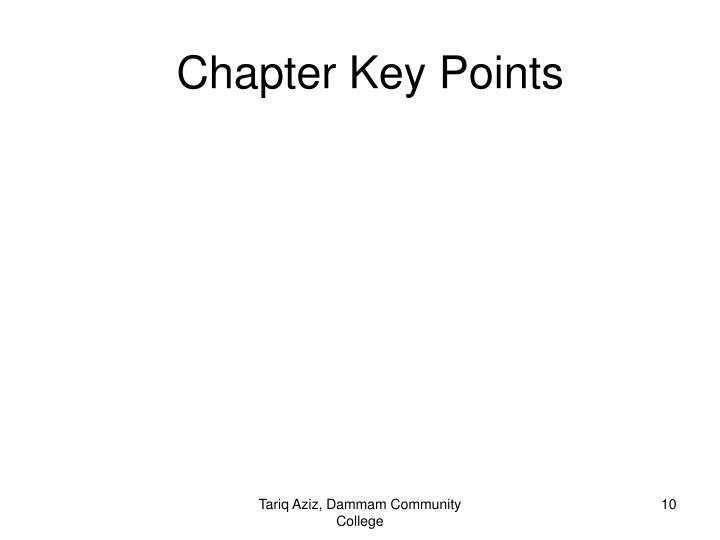 Chapter Key Points