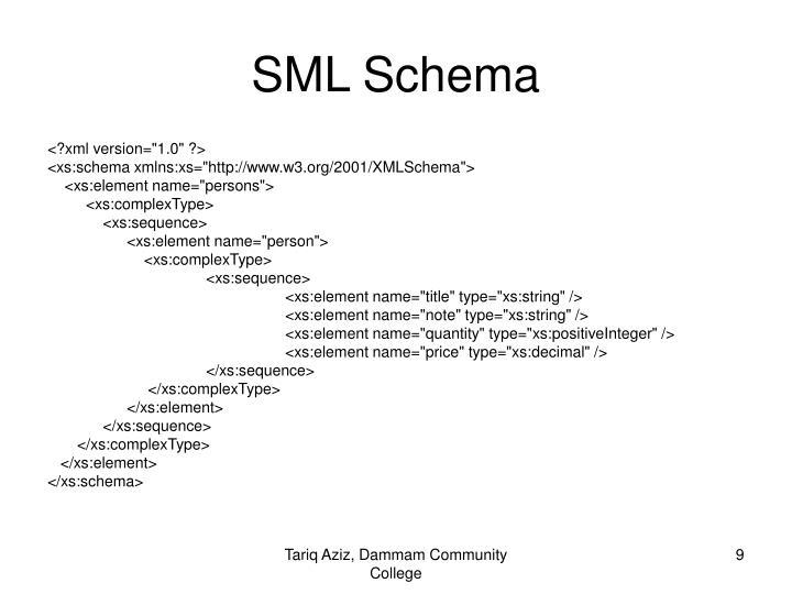 SML Schema