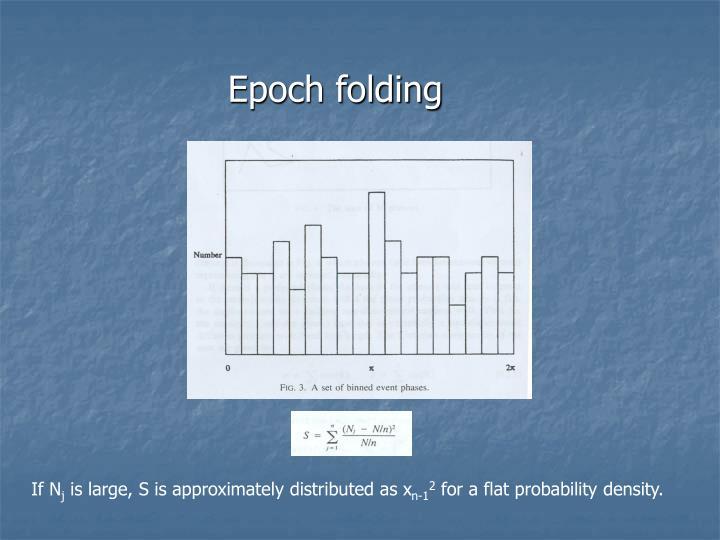 Epoch folding