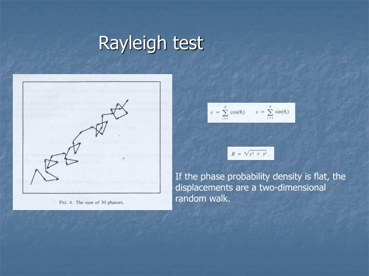Rayleigh test