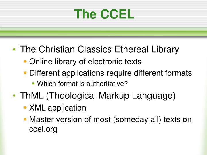 The CCEL