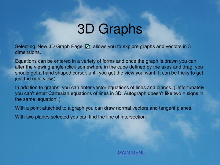 3D Graphs