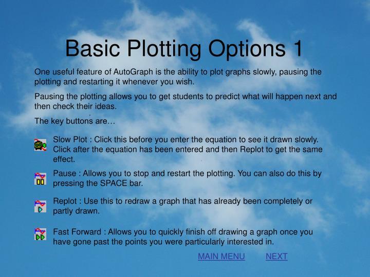 Basic Plotting Options 1