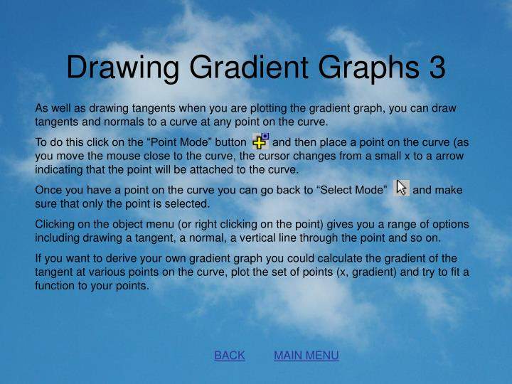 Drawing Gradient Graphs 3