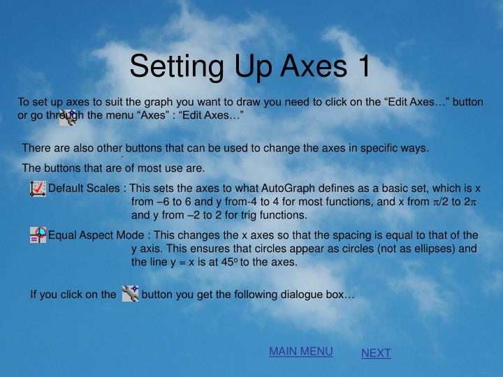 Setting Up Axes 1