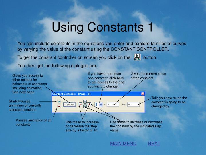 Using Constants 1