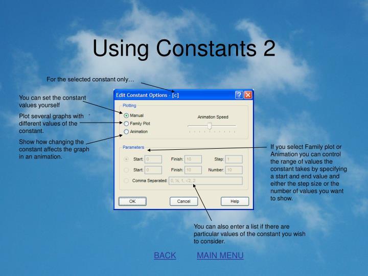 Using Constants 2
