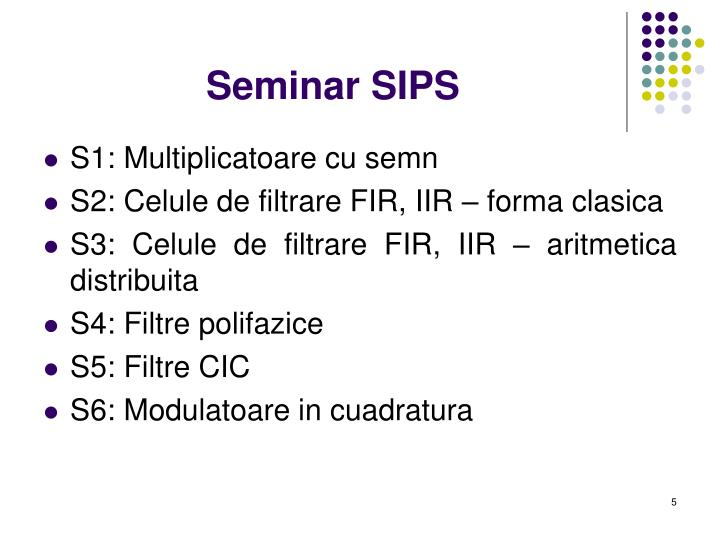 Seminar SIPS