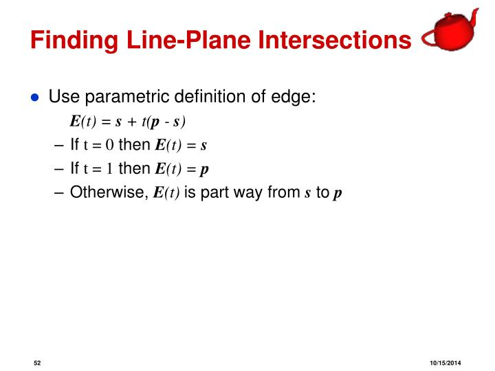 Finding Line-Plane Intersections