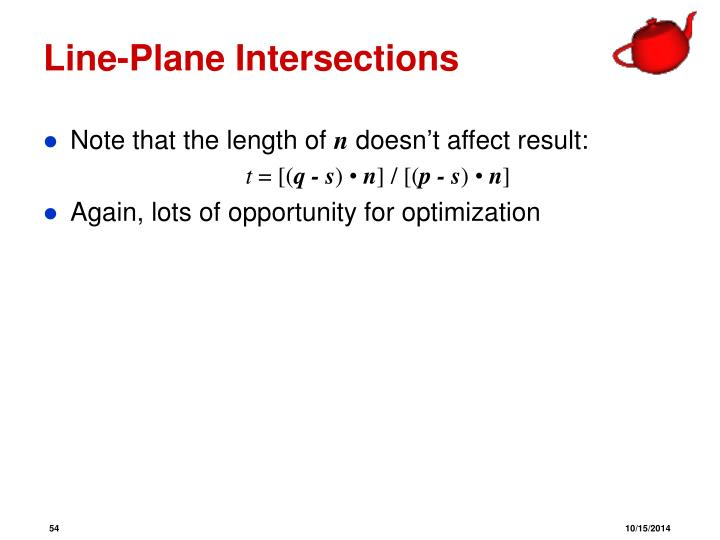 Line-Plane Intersections