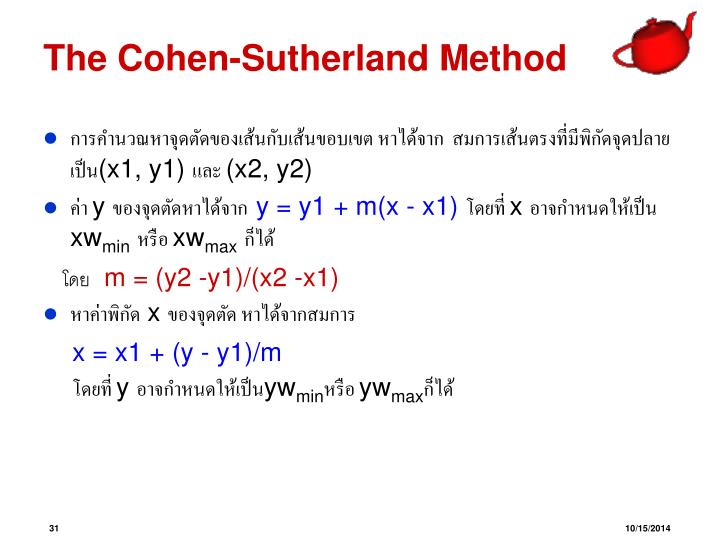 The Cohen-Sutherland Method
