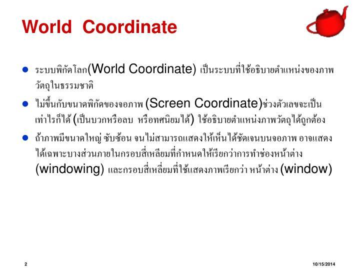 World  Coordinate