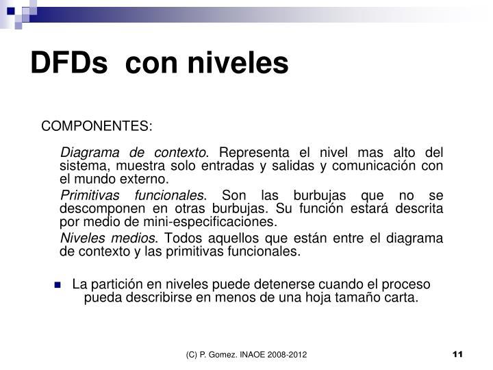 DFDs  con niveles