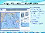 argo float data indian ocean