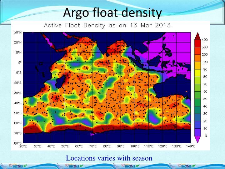 Argo float density