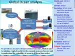 global ocean analysis