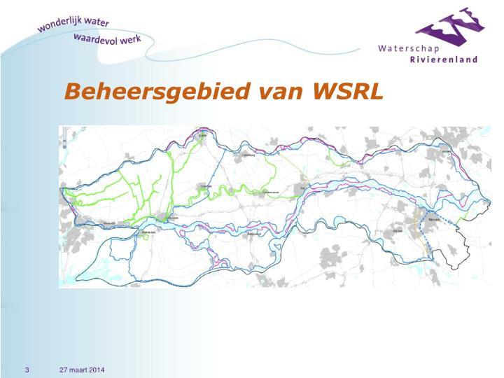 Beheersgebied van WSRL