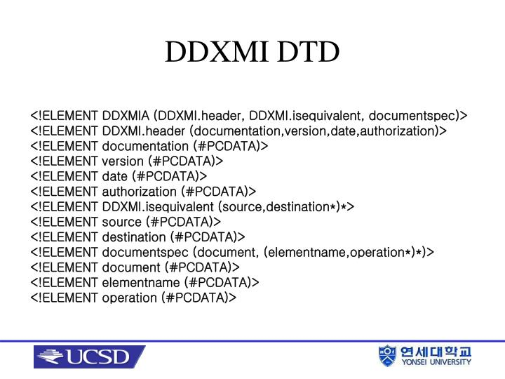 DDXMI DTD
