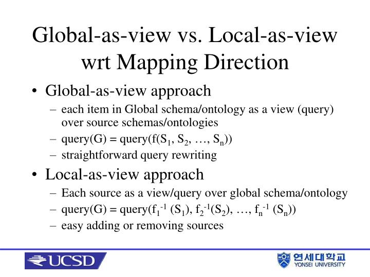 Global-as-view approach