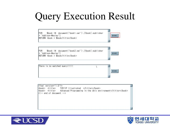 Query Execution Result