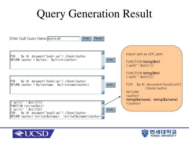 Query Generation Result