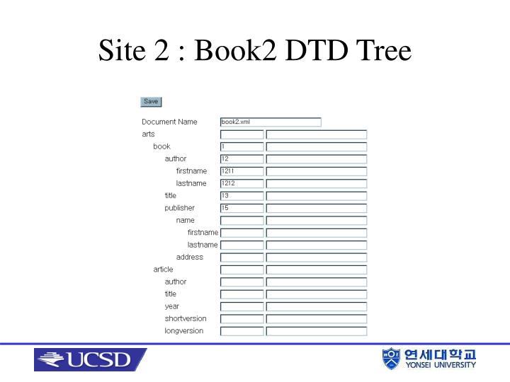 Site 2 : Book2 DTD Tree