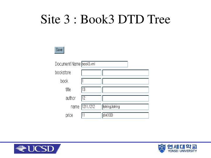 Site 3 : Book3 DTD Tree