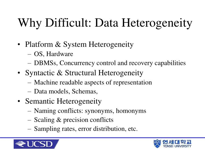 Why difficult data heterogeneity
