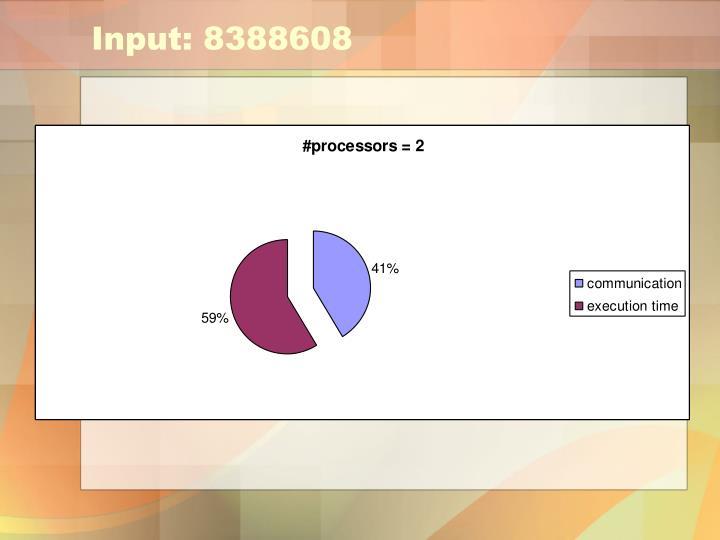 Input: 8388608