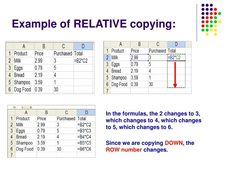 Example of RELATIVE copying: