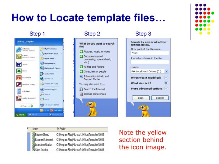 How to Locate template files…