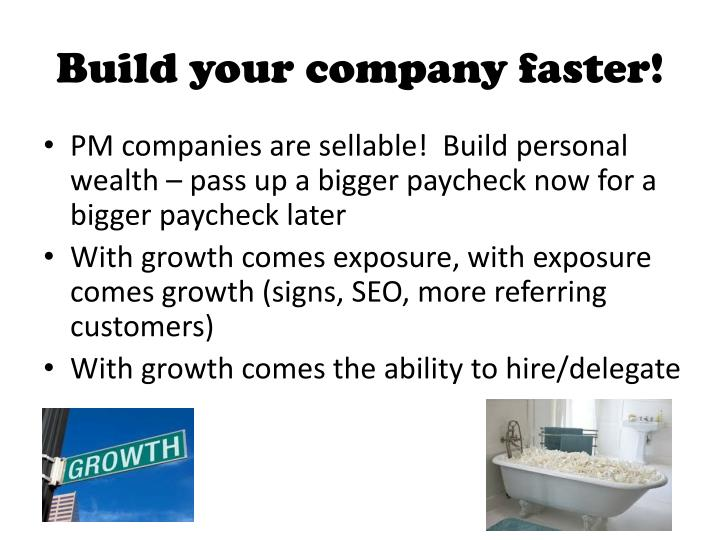 Build your company faster!