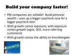 build your company faster