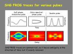 shg frog traces for various pulses