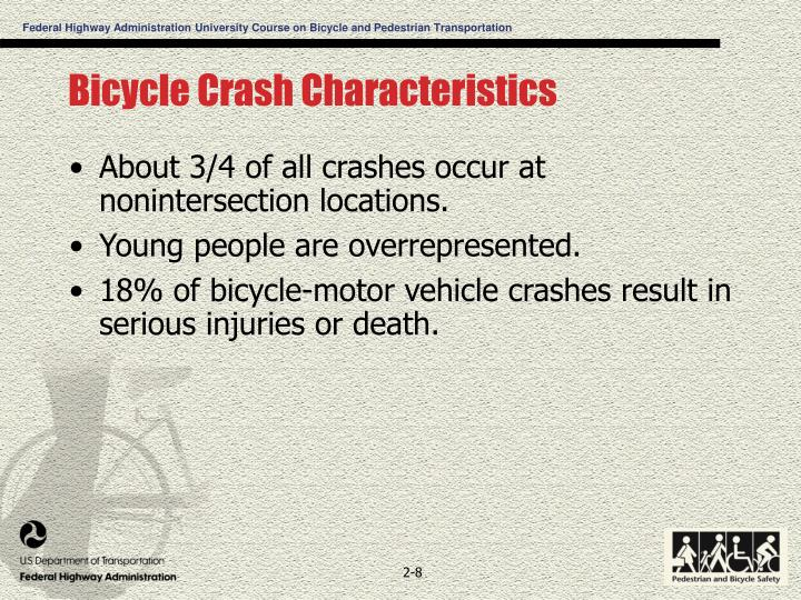 Bicycle Crash Characteristics
