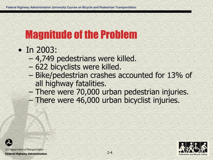 Magnitude of the Problem