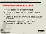 pedestrian crash characteristics