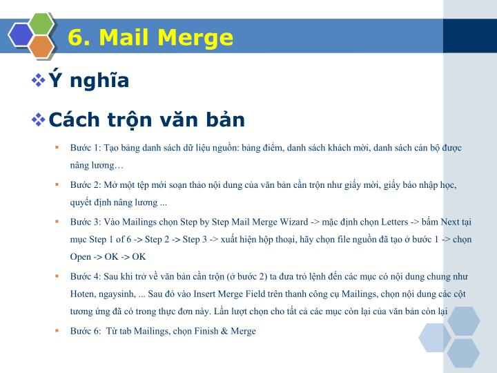 6. Mail Merge