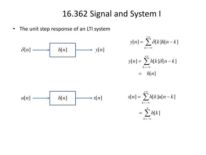 The unit step response of an LTI system