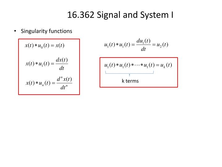Singularity functions