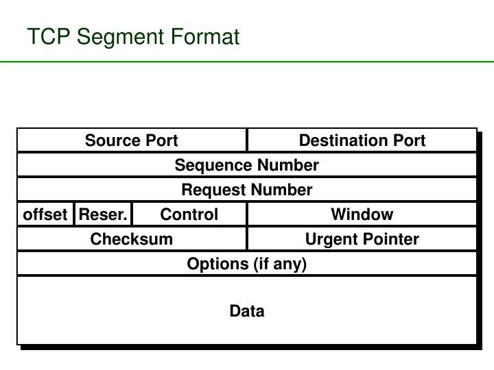 TCP Segment Format