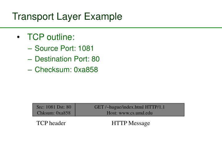 Transport Layer Example