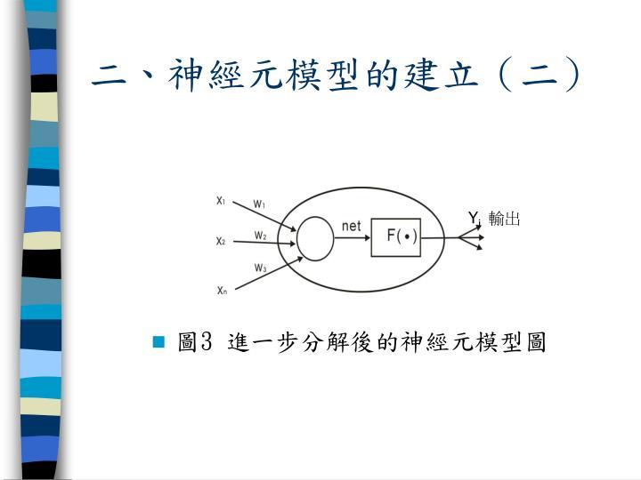 二、神經元模型的建立(二)