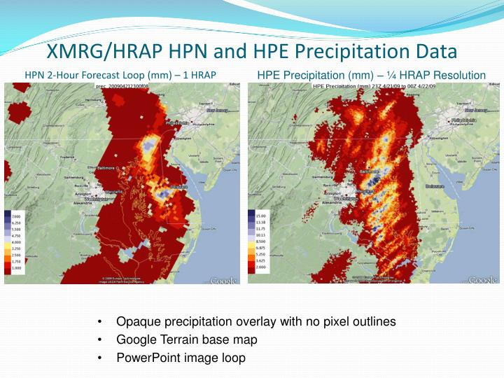 XMRG/HRAP HPN and HPE Precipitation Data