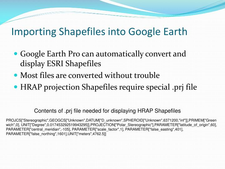 Importing Shapefiles into Google Earth